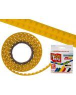 Flexibel bouwsteentape geel