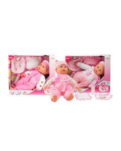 Babypop met accessoires