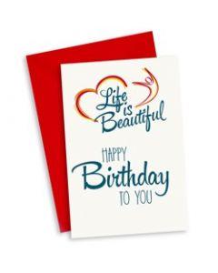 Wenskaart Happy Birthday to You