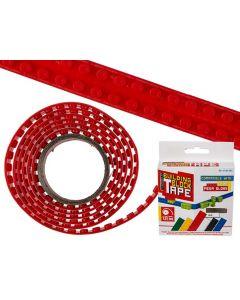 Flexibel bouwsteentape rood