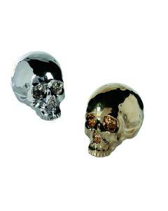 Skull spaarpot zilver