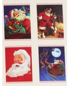 Hallmark kerstkaarten met kerstmannen, doosje van 16 stuks