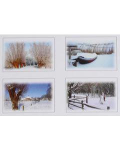 Hallmark kerstkaarten met landschappen, doosje van 16 stuks