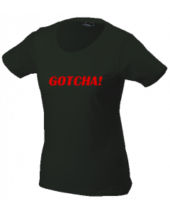 Dames T-shirt GOTCHA! black