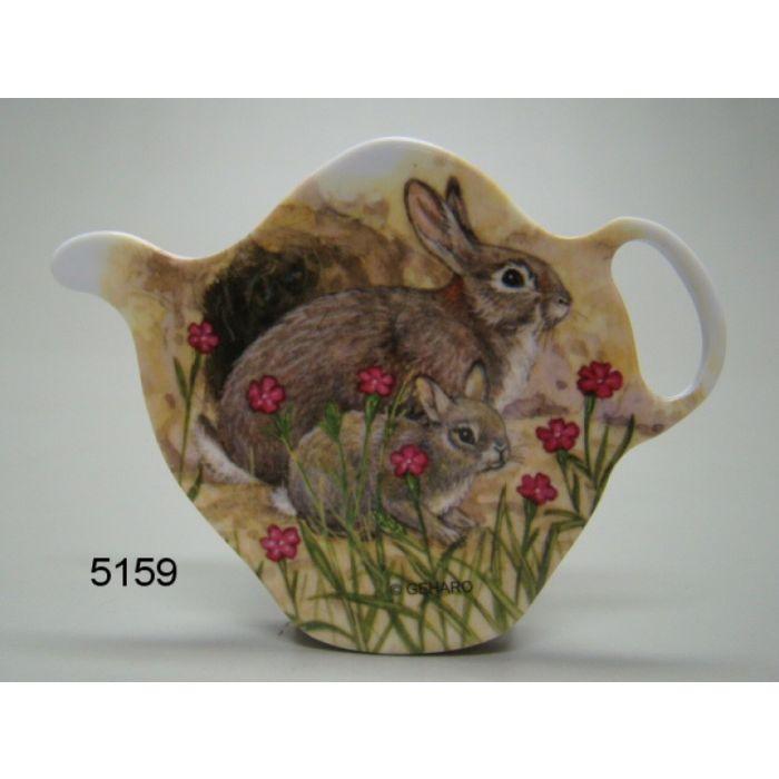 Theezakhouder met konijndesign